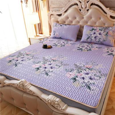 冰丝天然乳胶凉席套件 1.8米62元包邮 1.2*2米 紫色馨语