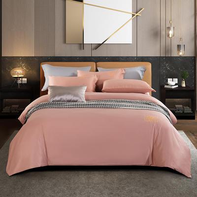 敢为 酒店风刺绣四件套 1.5m床单款四件套 艾庭-樱花粉