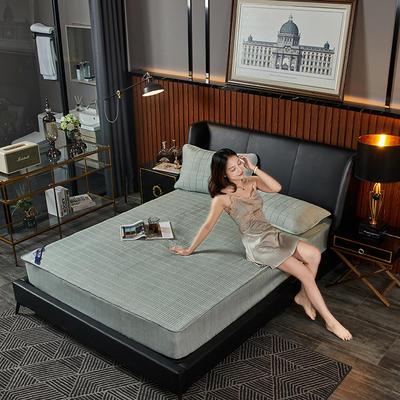 敢为 纯色日式色织彩棉加厚夹棉床笠 150cmx200cm 草绿色