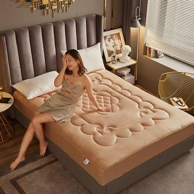 敢为 法莱绒360度床笠式床垫 1.8*2米 驼色