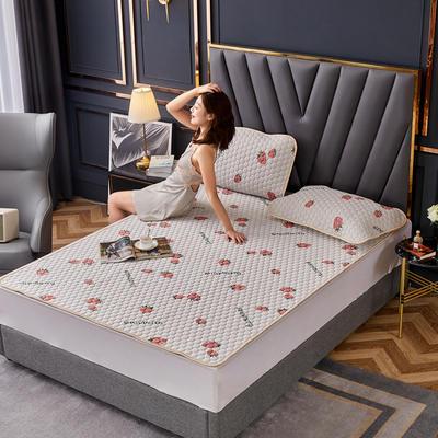 敢为 针织布防滑款乳胶床护垫 1.5*2米 可爱草莓