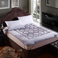 精致保暖法莱绒梅花床垫 0.9*2米床 银灰