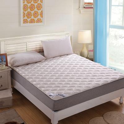 水立方凹凸针织布绗绣软床垫 90X200cm 奶白色