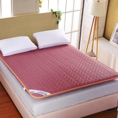 4D透气耐压加宽包边床垫 180X200cm 浅红