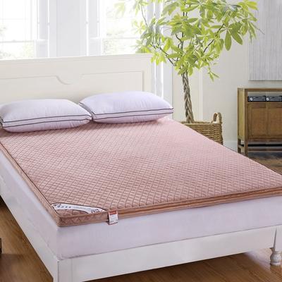 可脱卸拆洗立体法莱绒床垫 120X200cm 米驼色