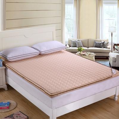 可脱卸拆洗绗绣加厚全棉立体床垫 90X200cm 驼色