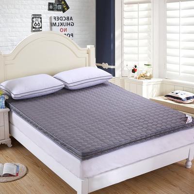 可脱卸拆洗绗绣加厚全棉立体床垫 90X200cm 银灰