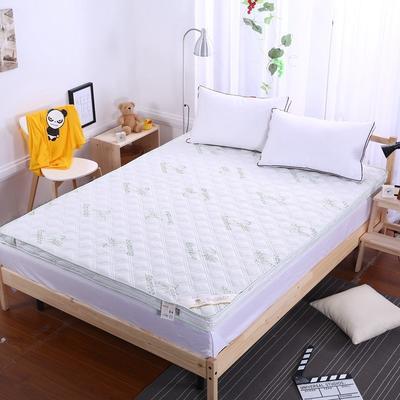 竹纤维慢回弹可脱卸拆洗立体记忆棉床垫 90X200cm 白色