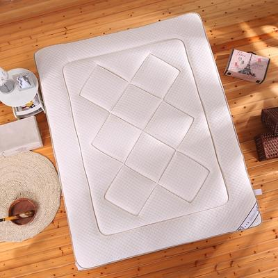 水立方凹凸针织布加厚床垫 90X200cm 奶白色