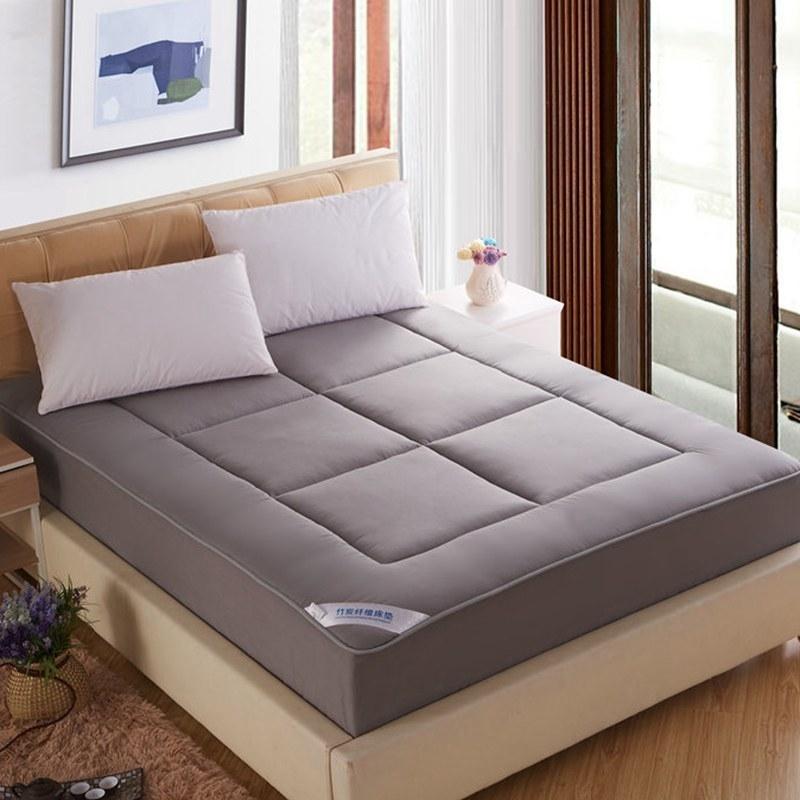 双面全棉竹炭纤维床笠式床垫