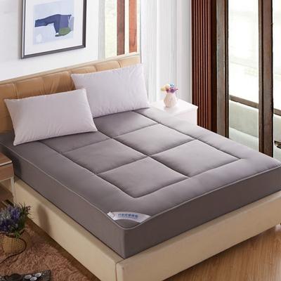 双面全棉竹炭纤维床笠式床垫 120x200cm 灰色