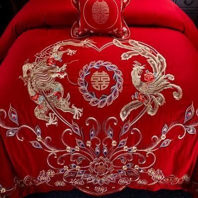 2020新款全棉婚庆四件套多件套 床旗 王者荣耀