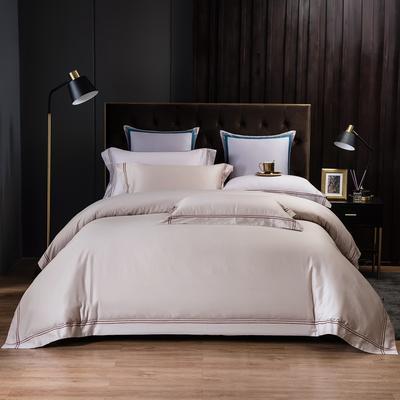 2020新款酒店款全棉四件套纯色轻奢风 1.2m床单款三件套 酒店款-咖啡色