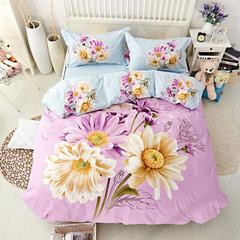 新款全棉活性磨毛四件套秋冬加厚床上用品床单被套保暖四件套 1.5m(5英尺)床 暗香