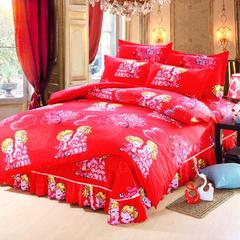 新款斜纹活性磨毛床单款四件套 单品被套 床单  枕套 1.5m(5英尺)床 两小无猜