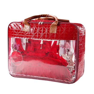 2019秋冬更新上市婚庆四件套大红结婚六件套床上用品4件套-皇家喜庆 1.5m(5英尺)床 配套精美手提包一个