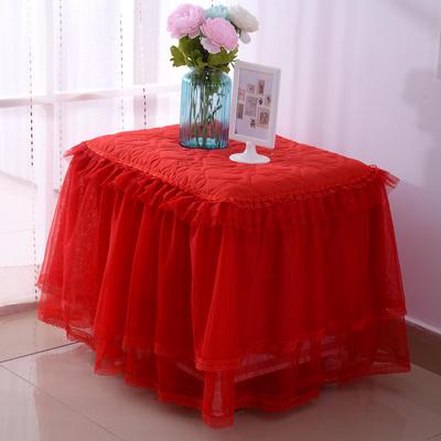 韩版蕾丝床头罩柜子罩系列 40*40cm /只 大红