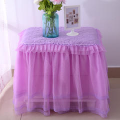 韩版蕾丝床头罩柜子罩系列 40*55cm /只紫色
