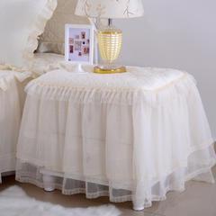 韩版蕾丝床头罩柜子罩系列 45*55cm /对米色
