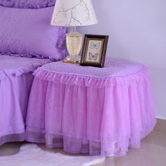 韩版蕾丝床头罩柜子罩系列 40*55cm /对紫色