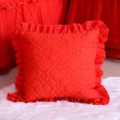 双人枕套方垫系列 方垫 50*50 大红