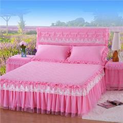 浩情国际 唯美款系列-床裙 枕套/对 粉