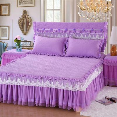 2019秋冬更新上市 唯美款系列-床裙 枕套/对 紫色