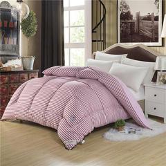 秋冬被子系列 印花水洗棉冬被 150x200cm条/4斤 简约生活-红
