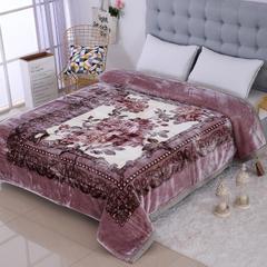 9月15号-5D雕花婚庆毛毯系列 5D雕花-特加厚云毯 包装/个 爱相随