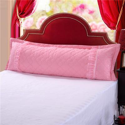 2019秋冬更新上市全棉蕾丝单品长枕系列 长枕:48*150套(不含芯)/只 长枕粉色