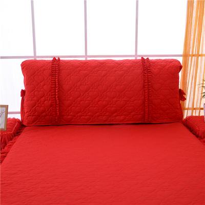 2019秋冬更新上市床头罩 床裙系列 幸福朵朵 1.5米 大红