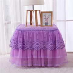 新品2018-4-14床头罩 床裙系列 伊人飘香床头柜罩系列 47*57cm/对 伊人飘香紫 40*45cm