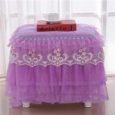 2021更新上市床头罩  床头柜系列 梦巴黎系列-小柜子罩 40*40cm/只 紫