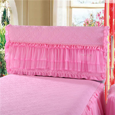 2021新品上市 床头罩  床头柜系列 温馨家园系列-床头罩 1.5米 温馨家园-粉