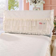 2018-5月14新品 床头罩  床头柜系列 温馨家园系列-床头罩 1.2米 温馨家园-米白