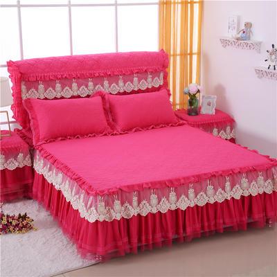 2020更新上市田园爱情-床裙系列 120cmx200cm 玫红枕套一对