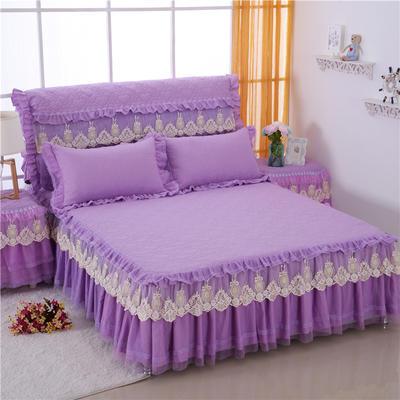 2020更新上市田园爱情-床裙系列 120cmx200cm 紫枕套一对