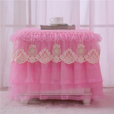 2020更新上市田园爱情-小柜子罩系列  床头柜罩 40*40cm/一只 粉