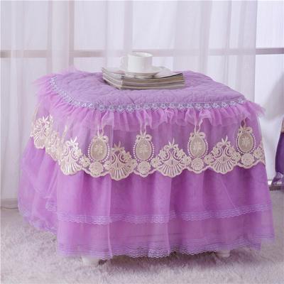 2020更新上市田园爱情-小柜子罩系列  床头柜罩 40*40cm/一只 紫