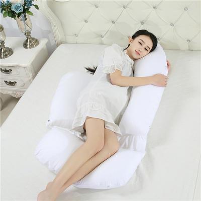 2021新款-加长胎教款孕妇枕90*175cm 本白色