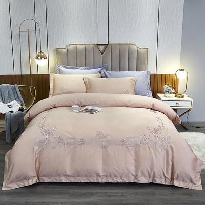 2021新款120支高端阿洛特之恋系列四件套 1.5m床单款四件套 米驼