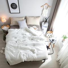 水洗棉冬被系列(氧气森林)白色 200X230cm 白色