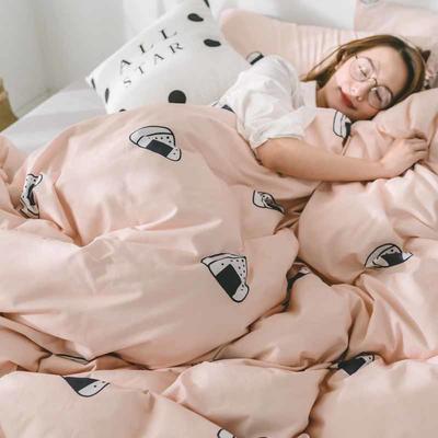 2018新品全棉喷气水洗棉四件套 1.2m床单款 饭团
