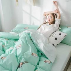 2018新品全棉喷气水洗棉四件套 2.0m床单款 寿司