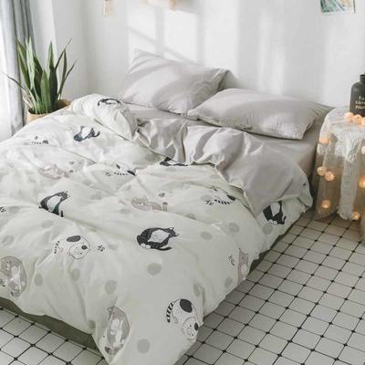 2018新品全棉喷气水洗棉床笠 1.2米床笠款 肥猫