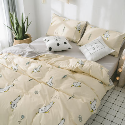 2018新品全棉喷气水洗棉床笠 1.2米床笠款 小鸭
