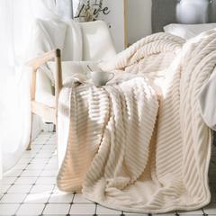 2018新款-魔法绒羊羔绒毯 100*150cm 白色