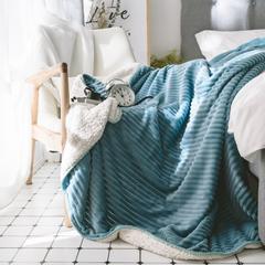 2018新款-魔法绒羊羔绒毯 100*150cm 蓝色