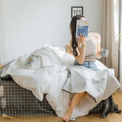 2019新款-绣花系列单品被套 150x200cm 贵族白