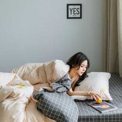 2019新款-绣花系列单品被套 150x200cm 柠檬黄